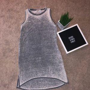 Dresses & Skirts - Sleeveless Plain Gray Dress